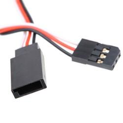 10cm (100 mm) 32awg Servo Extension Lead (Futaba Connector)