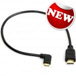 Right Angled Mini HDMI to HDMI 0.5m Cable