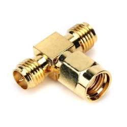 SMA Female to RP-SMA 2 Male T Connector