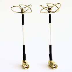 5.8 GHz Circular Polarized Antenna Set (TX-Right Angled / RX-Right Angled)