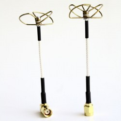 5.8 GHz Circular Polarized Antenna Set (TX-Right Angled / RX-Straight)