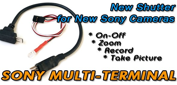 RC Shutter for New Sony Multi-Terminal Cameras
