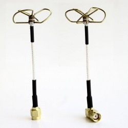 5.8 GHz Circular Polarized Antenna Set (TX-Straight / RX-Right Angled)
